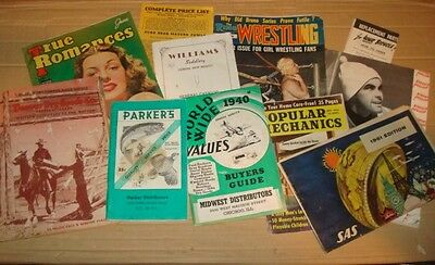 11 Vtg 30's-70's Lot Retro magazines, Catalogs, brochures and more