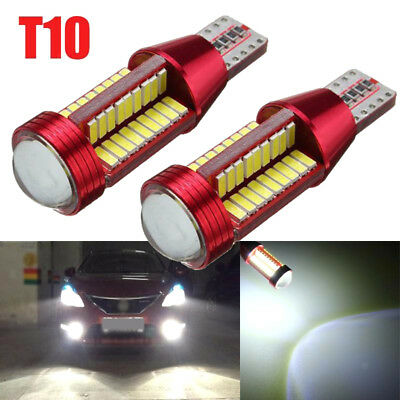 2x Car T10 Wedge High Power Bright White LED Light Bulb 194 168 2825 W5W