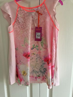 Ted Baker Girls Pink Floral Party Top. 12 Years. BNWT. Designer