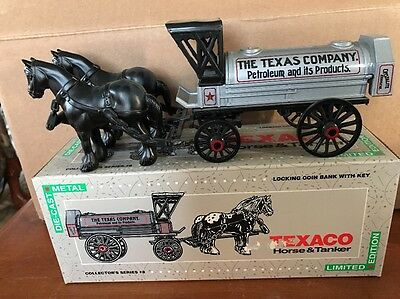 NEW ERTL Texaco Percheron Horse & Tanker Ltd Edition #8 1991 Die Cast Coin Bank