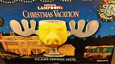 Set of 2 Christmas Vacation Moose Mugs Eggnog National Lampoon Griswold NEW