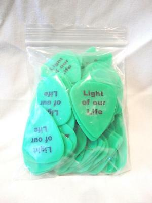 Guitar Plectrums Picks Light of our Life X100 Medium Gauge .88 Ultra Grip