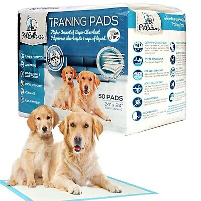 50 Puppy Training Pads Dog Toilet Pee Wee Mats Pet Cat Trainer Large 60 x 60 cm