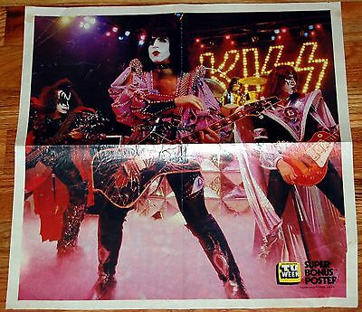 KISS Dynasty 1979 I Was Made Video Poster 15x15 Aussie TV Week Centerfold Aucoin