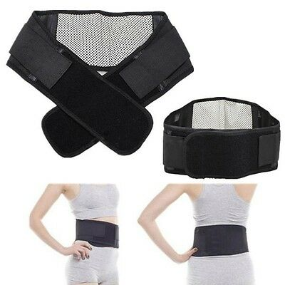 Infrared Magnetic Lower Pain Relief Back Support Lumbar Brace Belt Pull Strap CN