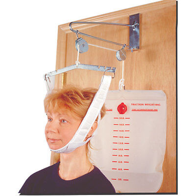 Over the Door Cervical Traction Set Occupational Physical Therapy Aids Neck Pain