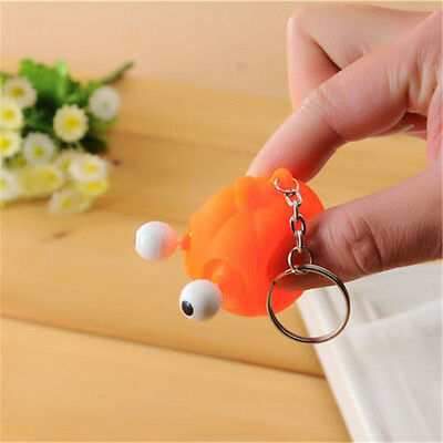 Cute Animal Squeeze Toy  Tumbled eye Decompression doll Keyring Key Chain Ring