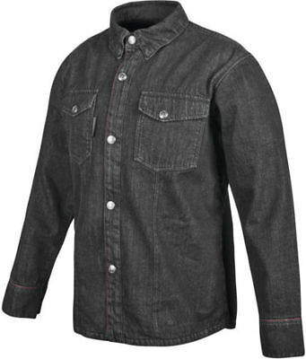 Speed and Strength Gridlock Denim Moto Shirt Black - Lg *879763 Large