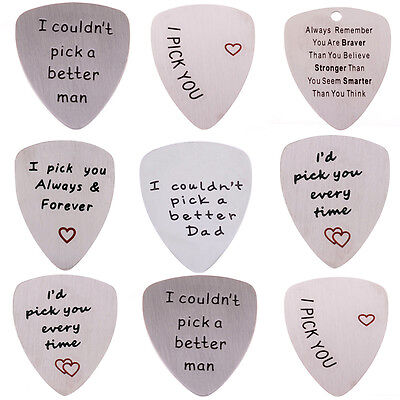 2018 New Stainless Steel Metal Standard Guitar Picks Acoustic Electric Silver