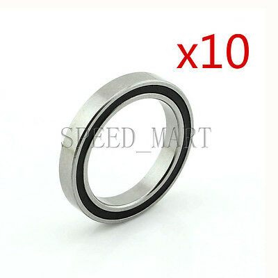 10PCS 6704-2RS 6704RS Deep Groove Rubber Shielded Ball Bearing (20mm*27mm*4mm)
