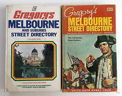 Gregory's Melbourne Street Directory 11th 1978 & 4th 1969 Centenary Editions