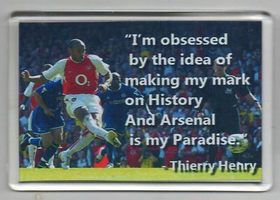 Thierry Henry Arsenal  With Quote Fridge Magnet