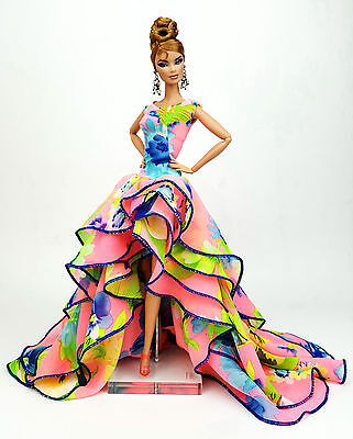Colorful Evening Chiffon Dress Outfit Gown Silkstone Barbie Fashion Royalty FR2