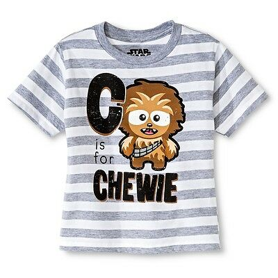 New Tee Star Wars Little Boys Toddler C is for Chewie T Shirt