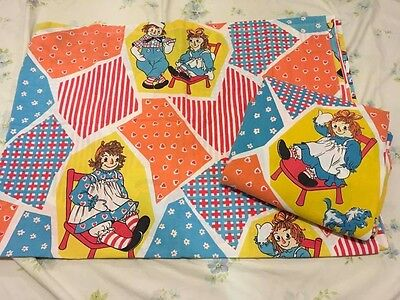Vintage Raggedy Ann and Andy Twin Sheets