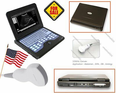 US CONTEC CMS600P2 Portable Laptop Machine Ultrasound Scanner Convex Probe,Human