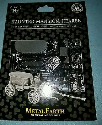 Disney Parks Haunted Mansion Hearse 3D Metal Earth Model Kit NEW