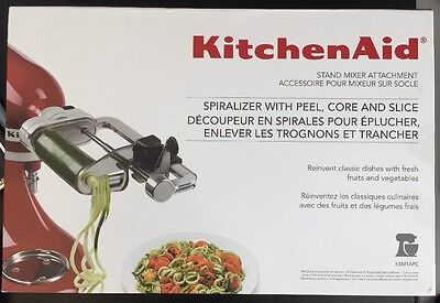 kitchenAid Spiralizer Attachment with Peel,Core and Slice New KP150495