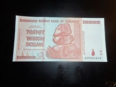 Zimbabwe 20 Trillion Dollars, AA/2008,  UNC, 50 & 100 Trillion Series