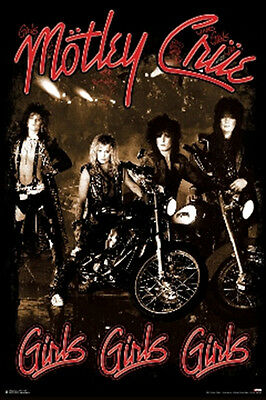 "Motley Crue Girls, Girls, Girls Album Cover Art Poster 24"" x 36"""