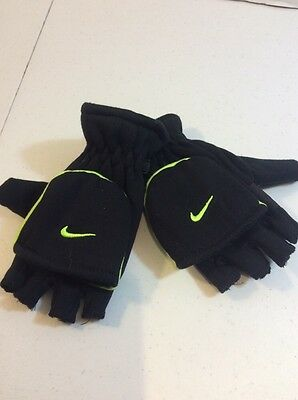 NEW Nike Youth Boy's Convertible Gloves (Black), Winter, Hands, Snow Gloves