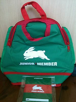 South Sydney Rabbitohs NRL 2017 Junior Members Lunch Bag + Autograph Book - New