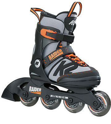 K2 Raider Adjustable Inline Skates - Black/Orange