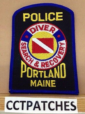 Portland, Maine Police Diver Search & Recovery Shoulder Patch Me