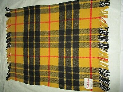 vintage PRINGLE of SCOTLAND wool plaid throw PITTSBURGH STEELERS color airline