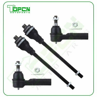4Pcs Tie Rod End Kit For 2001-2007 Chevrolet Silverado/Sierra 1500 2500 HD 3500