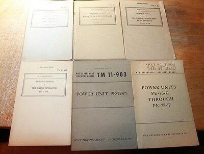 War Department Technical Manual Signal Corps Lot 11- 359 354 454 447 900 903