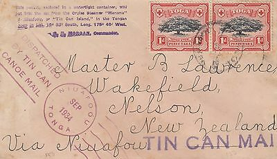 TONGA Tin Can Mail Cover as shown - Scarce - Lot 2