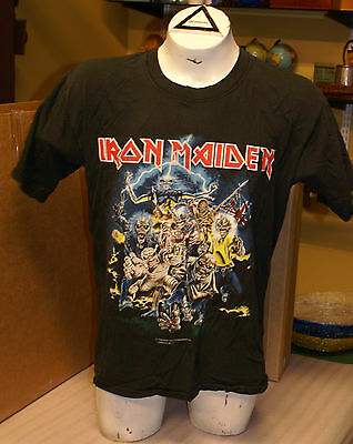 Vintage 1996 Iron Maiden Best of the Beast 2 Sided Shirt Concert Tour Eddie L