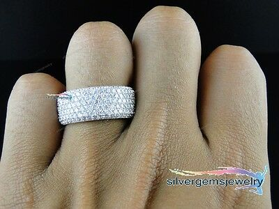 3.00 Carat Men's White Gold Over Diamond Engagement Wedding Pinky Band Ring