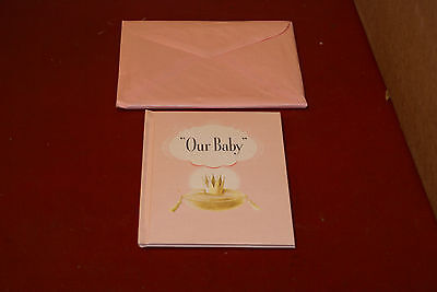 1940s 50s Mutual Life Assurance Our Baby Book Pink Girl