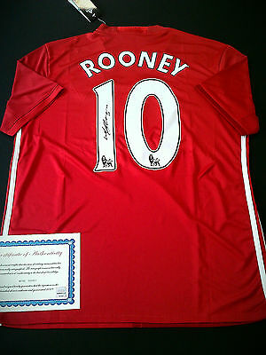 2016/17 Wayne Rooney signed Manchester United F.C. jersey shirt with COA.