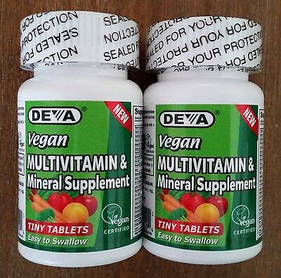 DEVA Vegan Multivitamin and Mineral Supplement x 180 TINY TABLETS, Gluten Free