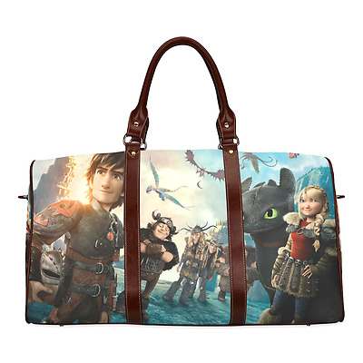 How To Train Your Dragon Movie Theme Durable Canvas Travel Duffel Bag Outdoor