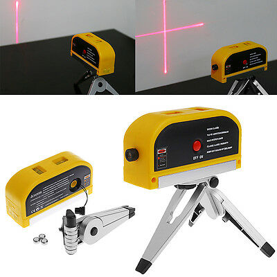 Laser Level Cross Line W/Tripod Vertical Horizontal Multifunction Measure Tool