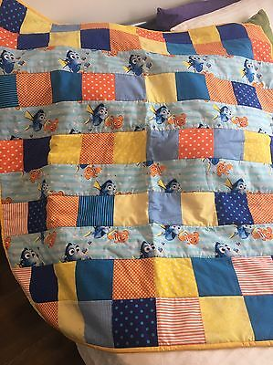 Handmade patchwork quilt. Finding Dory Fish