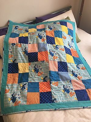 Handmade patchwork quilt Finding Dory Fish