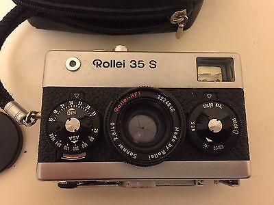 Rollei 35 S 35mm Film Camera Sonnar 2.8 40mm Lens Excellent Shape