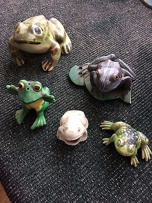 Five Ceramic Frogs