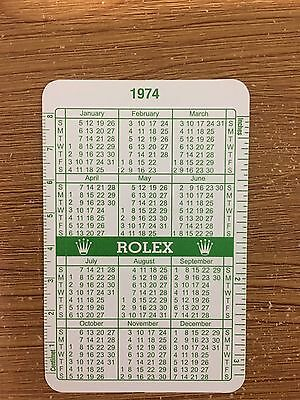 GRAB A BARGAIN NOW - ROLEX CALENDAR 1974 / 1975 100% AUTHENTIC ( Last One )