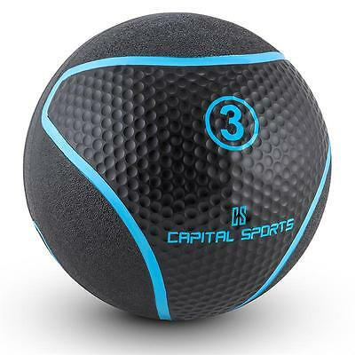 Capital Sports Medba 3 Medicine Ball 3kg Rubber Black