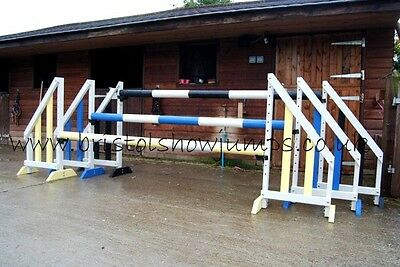 horse show jumps, complete set of 3 by bristol showjumps YBB WITH KEYHOLE TRACKS