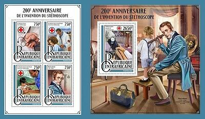 Z08 CA16914ab CENTRAL AFRICAN REP. 2016 Stethoscope MNH Mint Set