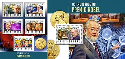 Z08 IMPERFOARTED GB16906ab GUINEA-BISSAU 2016 Nobel prize Bob Dylan and others M