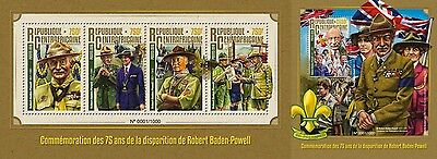 Z08 Imperforated CA16104ab CENTRAL AFRICA 2016 Robert Baden-Powell MNH Set