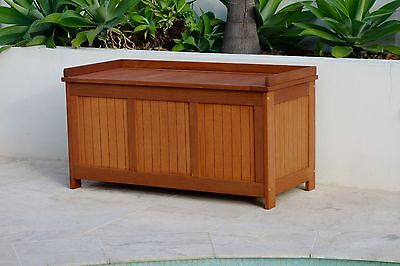 Storage Box Chest: NEW DESIGN Meranti Timber Solid Outdoor Wooden Chest Box Seat